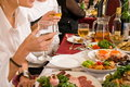 People Have Supper On A Banquet. Royalty Free Stock Photo - 7207015