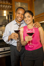 Couple With Wine Stock Image - 7208901