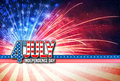 4th Of July - Independence Day Retro Card Royalty Free Stock Photography - 72003687