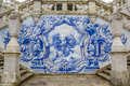 Religious Scene In Blue Azulejos At The Remedios Stairs In Lameg Stock Photography - 72016822