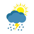 Sunny And Rainy Day With Storm Stock Photo - 72024680
