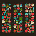 Doodle Vector Icons Merry Christmas And Happy New Year Stock Photos - 72033743