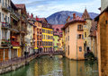 Medieval Old Town And Thiou River, Annecy, Savoy, France Royalty Free Stock Photo - 72051645