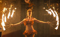 Movie World Gold Coast Female Fire Dancer Royalty Free Stock Photography - 72065157