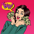 Young Businesswoman Holding Cash. Woman With Dollars In Her Hand Stock Photo - 72069120