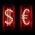 Financial Dollar Signs And The Euro. Nixie Tube Indicator Stock Photography - 72123682