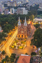 SAIGON, VIETNAM - APRIL 08, 2016 - Saigon Notre Dame Cathedral (Vietnamese: Nha Tho Duc Ba) In A Daylife Royalty Free Stock Photo - 72128775