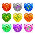 Cartoon Colorful Sewing Buttons Set Stock Image - 72136991