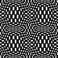 Vector Modern Abstract Geometry Psychadelic Pattern. Black And White Seamless Geometric Crazy Background Stock Photography - 72146292