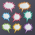 Starburst Speech Bubbles Stock Image - 72148271
