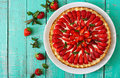 Tart With Strawberries Royalty Free Stock Photography - 72151727