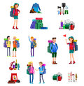 Vector Illustration Of Kids Summer Camp Royalty Free Stock Photos - 72153448