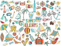 Summer Doodles Royalty Free Stock Photography - 72161847