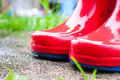 Wet Wellies Close-up Royalty Free Stock Photos - 72192368