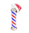 Classic Barber Santa Hat 3d Illustrations Royalty Free Stock Photography - 72193167