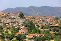 Red House Roofs Of Mediterranean Village Stock Images - 72197544