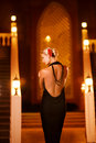 Lady In Black Evening Dress Stock Images - 7228724
