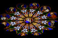 Stained-glass Window In Catholic Cathedral Royalty Free Stock Photo - 7229125