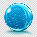 Big Blue Glass Sphere With Air Bubbles Stock Image - 72200551