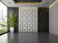 Interior Of Empty Room With Wall Panel And Palm 3D Rendering 3 Stock Photography - 72203772