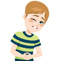 Boy Suffering Stomachache Royalty Free Stock Images - 72215359