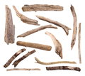 Twigs, Set Macro Dry Branches Isolated On White Background, With Clipping Path Stock Photo - 72217310