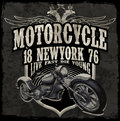 Motorcycle Typography Vintage Motor T-shirt Graphics Vectors Royalty Free Stock Images - 72221009