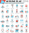 Vector Heavy And Power Industry Ultra Modern Outline Artline Flat Line Icons For Web And Apps. Stock Photo - 72230990