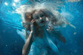Portrait Of A Woman Under Water. Stock Photos - 72242843