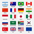 G-20 Flags Royalty Free Stock Photos - 72245488