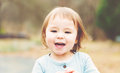Happy Toddler Girl Playing Outside Royalty Free Stock Photo - 72259805