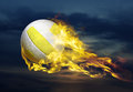 Flying Fiery Ball Royalty Free Stock Photo - 72261585