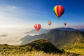 Colourful Hot-air Balloons Flying Royalty Free Stock Image - 72292896