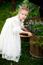 Little Girl With Flowers Stock Photography - 7236992
