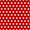 White Polka Dots With Red Stock Photos - 7237553