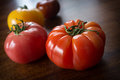 Variety Heirloom Tomatoes Royalty Free Stock Photography - 72307157