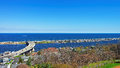 Road And Atlantic Ocean Shore Viewed From Light House Royalty Free Stock Photography - 72316247