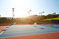Outdoor Tennis Court With Nobody In Malibu Royalty Free Stock Photography - 72333657