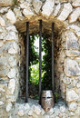 Iron Helmet On The Castle Ruins Royalty Free Stock Photography - 72336957