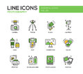 Photography Line Design Icons Set Stock Photography - 72344682