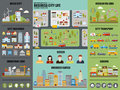 Flat Infographic City Life Vector Design Royalty Free Stock Photo - 72354595