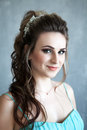 Portrait Of Young Beautiful Bride Over White Background Royalty Free Stock Photography - 72355187