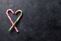 Candy Canes Heart Stock Images - 72361104