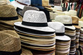 Straw Hats Lie On The Counter Royalty Free Stock Images - 72362249
