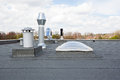 Chimney On The Roof Royalty Free Stock Images - 72368049