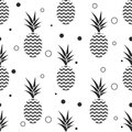 Pineapple Simple Vetor Seamless Background. Textile Pattern. Royalty Free Stock Images - 72368929