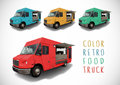 Set Of Colour Food Truck Royalty Free Stock Images - 72369139