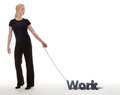 Chained To Work Royalty Free Stock Photos - 72370308