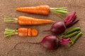 Carrots, Beets And Pea Pods On The Wood Royalty Free Stock Images - 72380179