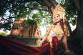 Beautiful Girl In Apsara Royalty Free Stock Photo - 72380435